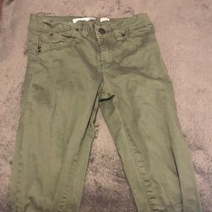 Olive Green Jeans! Never worn... doesn't have tag!